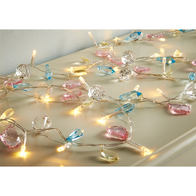 30 LED Luxury Jewel Lights - Pastel Lighting - B&M
