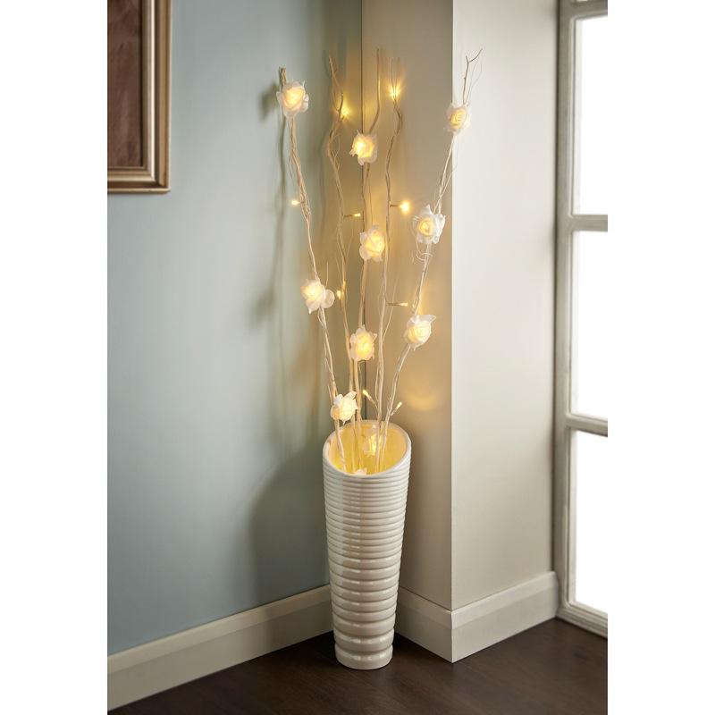 25 LED Rose Branch Lights
