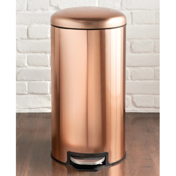 copper pedal bin 30l household essentials b m. Black Bedroom Furniture Sets. Home Design Ideas