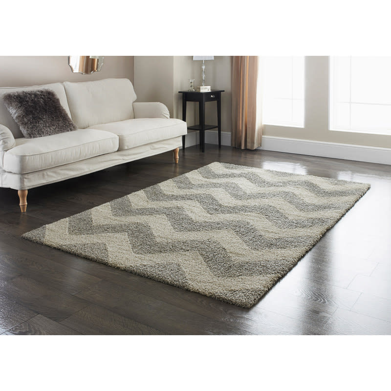 Chevron Kitchen Rug: Tonal Chevron Rug - Grey 110 X 160cm