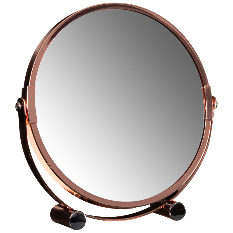 Copper mirror on stand bathroom mirrors home accessories