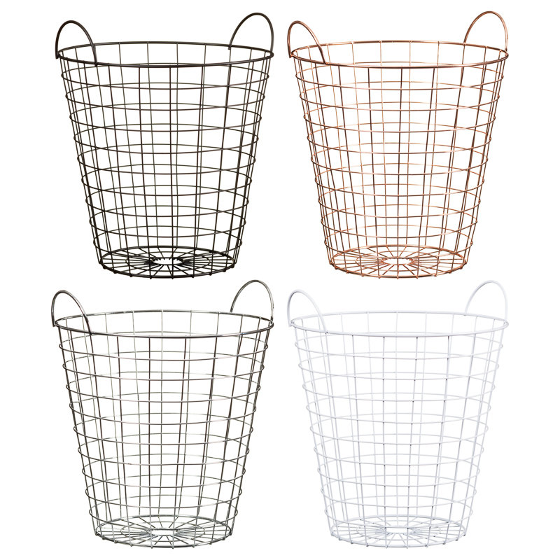 Wire Waste Paper Basket metal wire bin | household | waste paper baskets - b&m