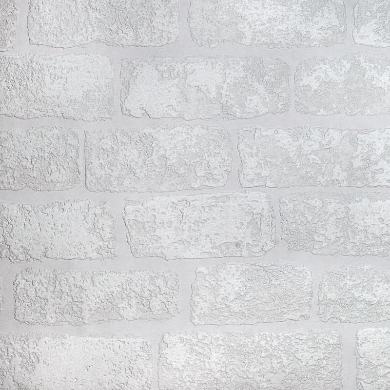 Anaglypta Brick Wallpaper White