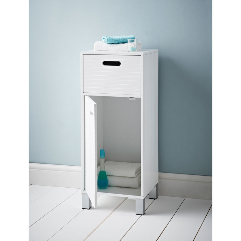 Free standing assembled bathroom storage cabinet drawer for Bathroom towel storage ideas uk