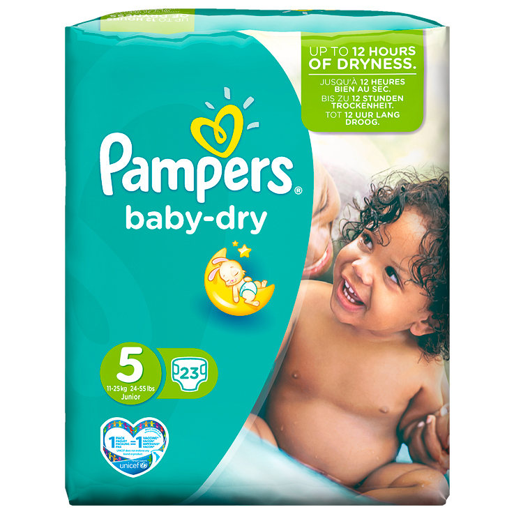 Pampers Junior Nappies Carry Pack 23pk Size 4 Baby B Amp M