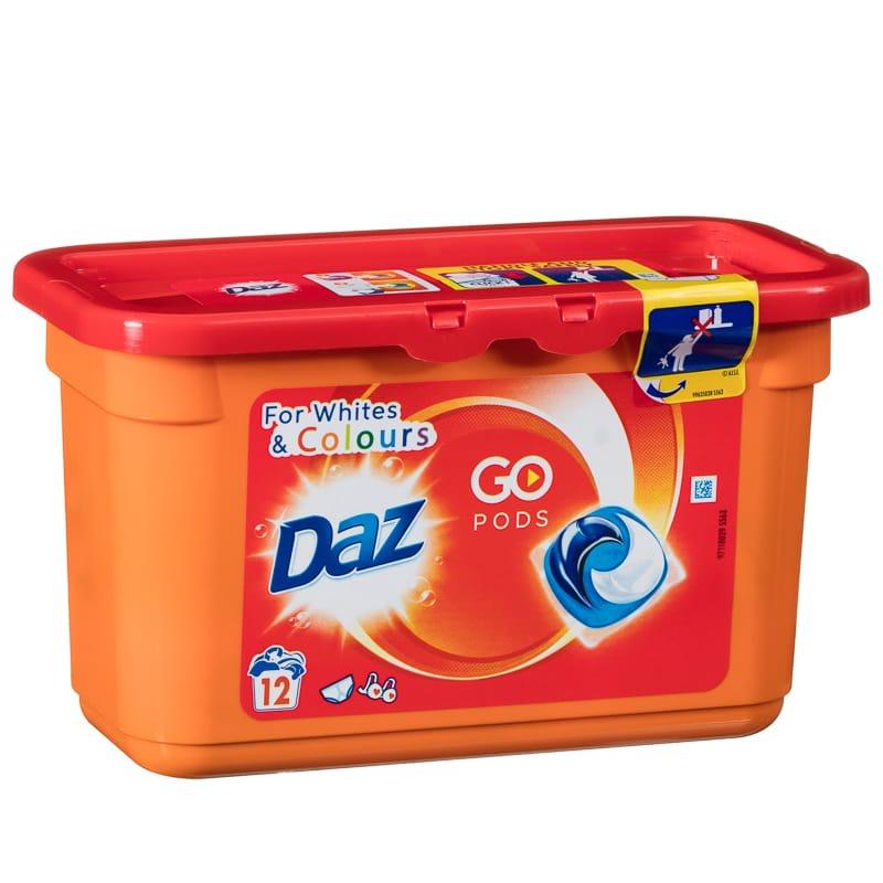 Daz Go Pods Washing Capsules 12pk Laundry Detergent B Amp M