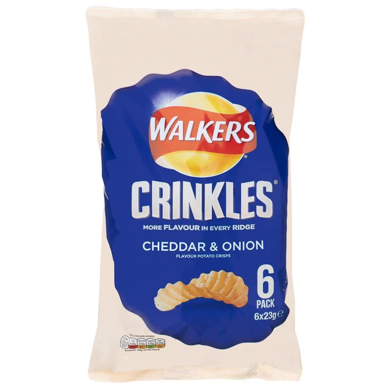 Walkers Crinkles 6pk Cheddar Amp Onion Crisps B Amp M