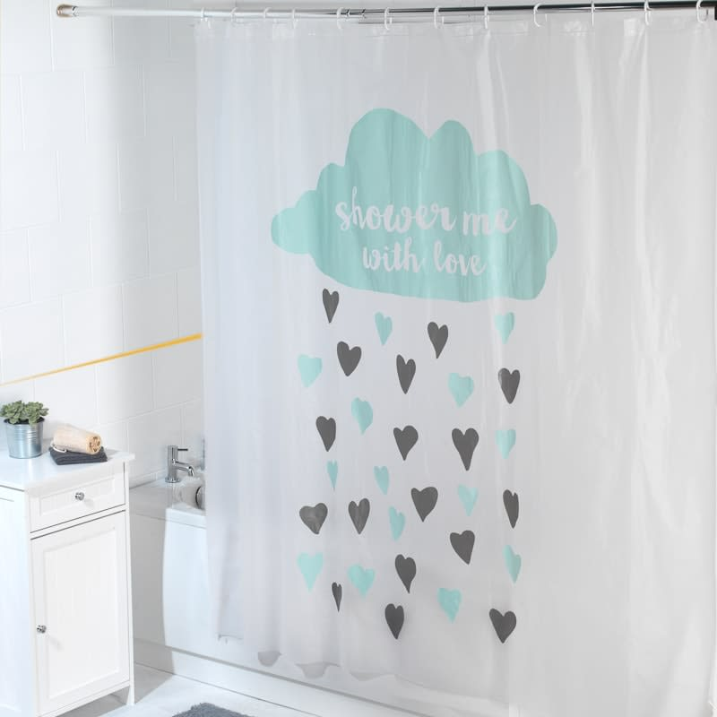 Beldray Peva Shower Curtain - Shower with Love