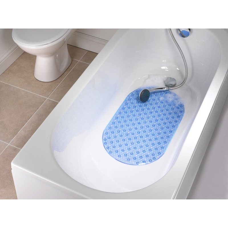 Beldray Pvc Bath Mat Blue Bath Mats B Amp M
