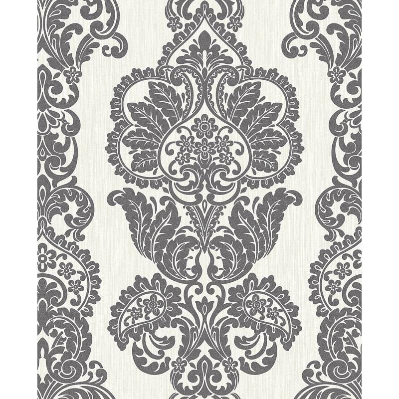 Rochester damask wallpaper black white diy wallpaper for Black white damask wallpaper mural
