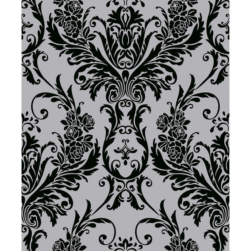 Debona Medina Damask Wallpaper Black Decorating Diy