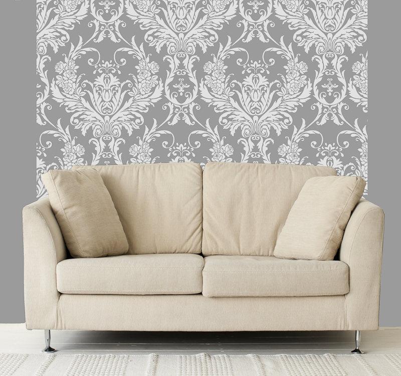312076 medina white flock room wallpaper