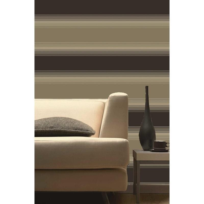Zara stripe wallpaper chocolate diy wallpaper b m for Wallpaper zara home