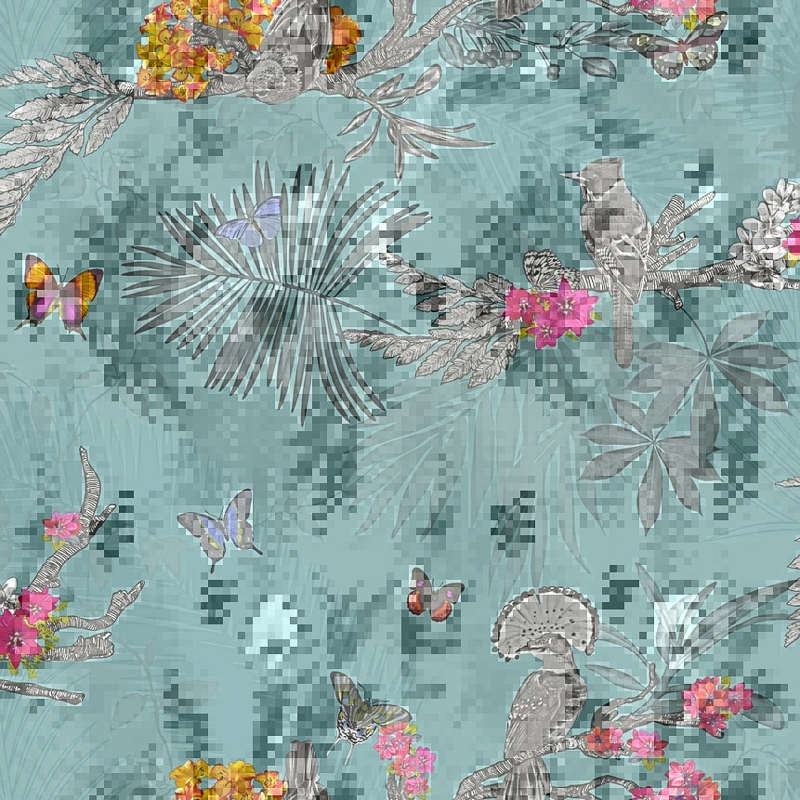 arthouse mystical forest wallpaper teal decorating diy