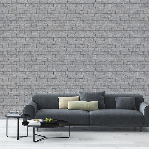 Coloroll glitter brick wallpaper grey decorating diy - Glitter wallpaper ideas ...