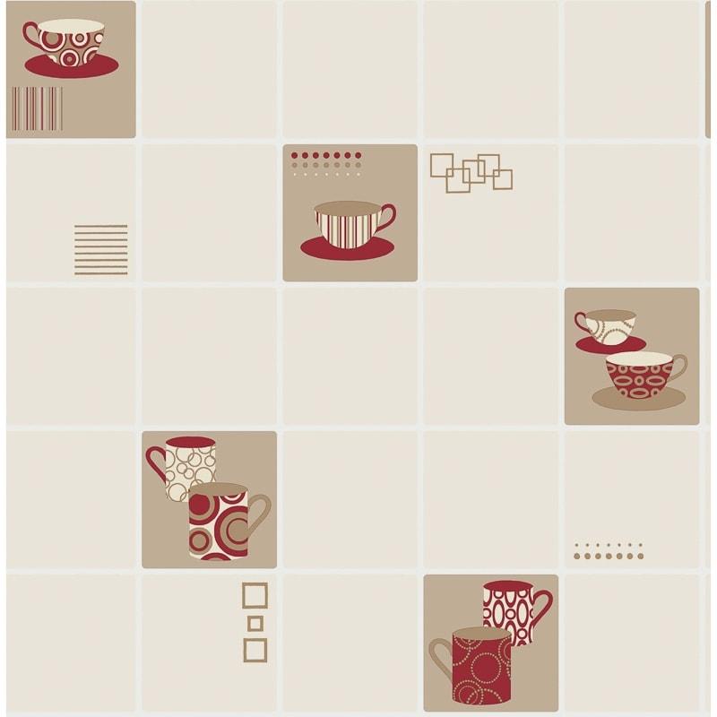 Contour Teacups Wallpaper Red Diy Wallpaper B Amp M