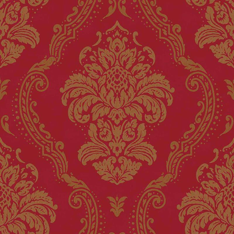 B&M: Arthouse Lucetta Damask Wallpaper - Red
