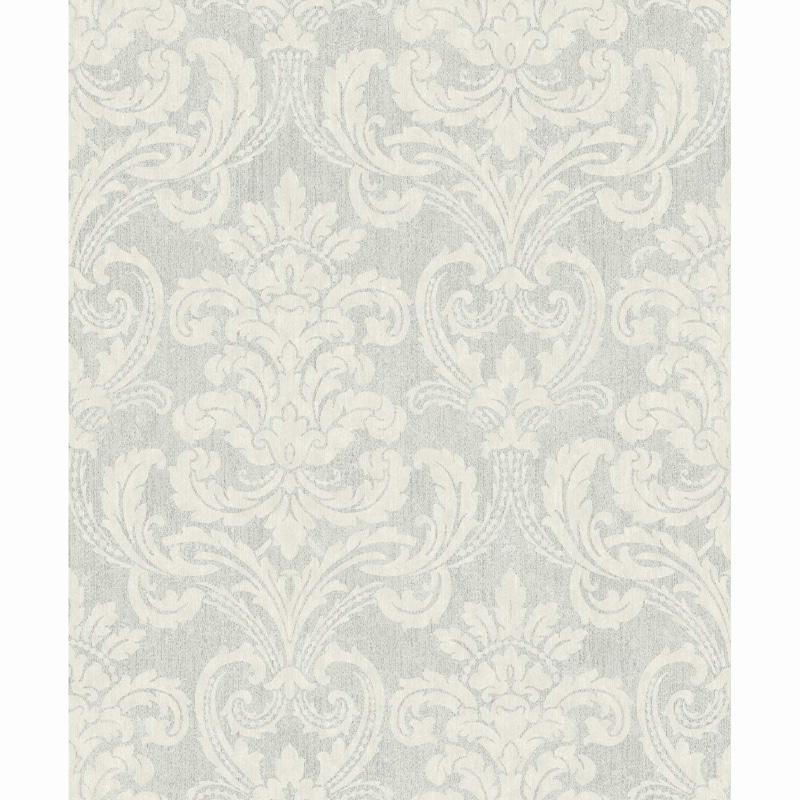Bari Damask Wallpaper - Silver