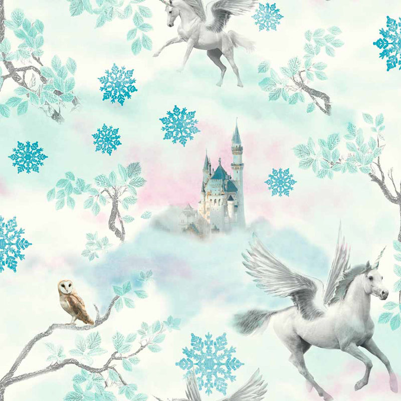 Arthouse Fairytale Ice Wallpaper Blue Decorating Diy