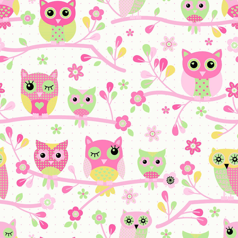 Debona Owls Wallpaper - Pink | Decorating, DIY
