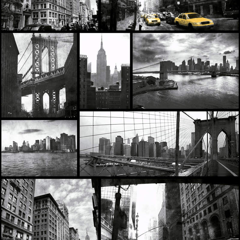 Debona New York Wallpaper Blackwhite