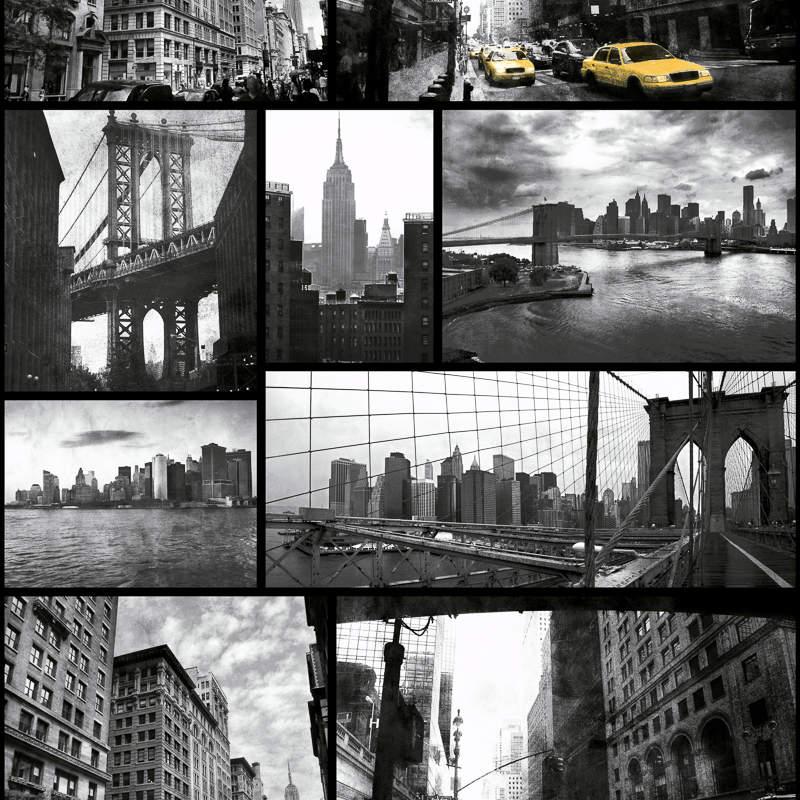 Debona new york wallpaper black white decorating diy for Wallpaper home new york