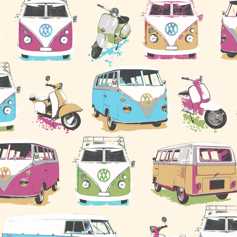 Muriva Camper Van Wallpaper Decorating Diy
