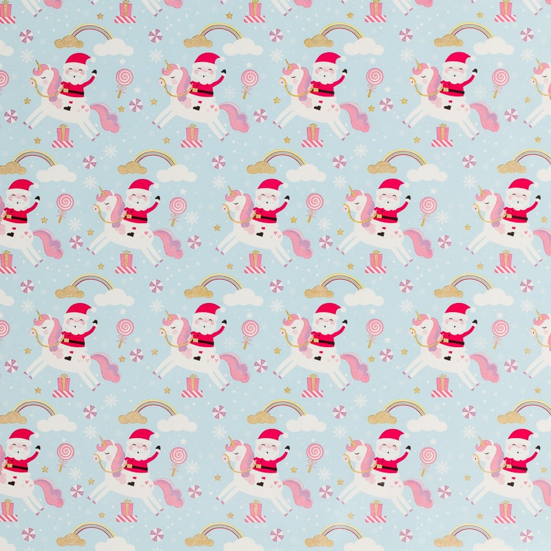 Christmas Cute Wrapping Paper 12m Unicorns Xmas B Amp M