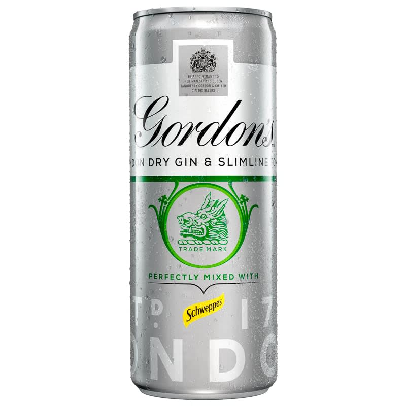 Gordon's Dry Gin & Slimline Tonic 250ml