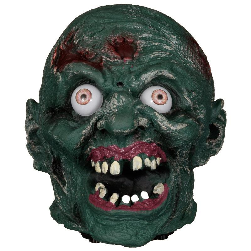 Talking ghoul head halloween decorations b m for B m halloween decorations