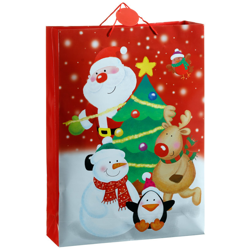 Giant portrait christmas bags presents gifts