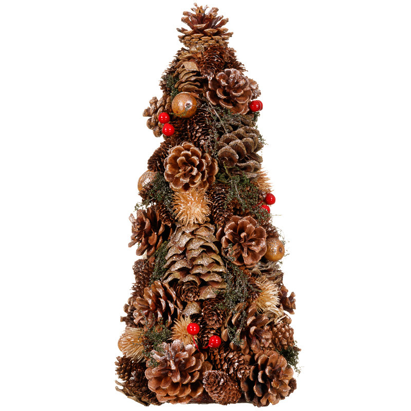 Traditional Pine Cone Tree | Christmas Decorations - B&M