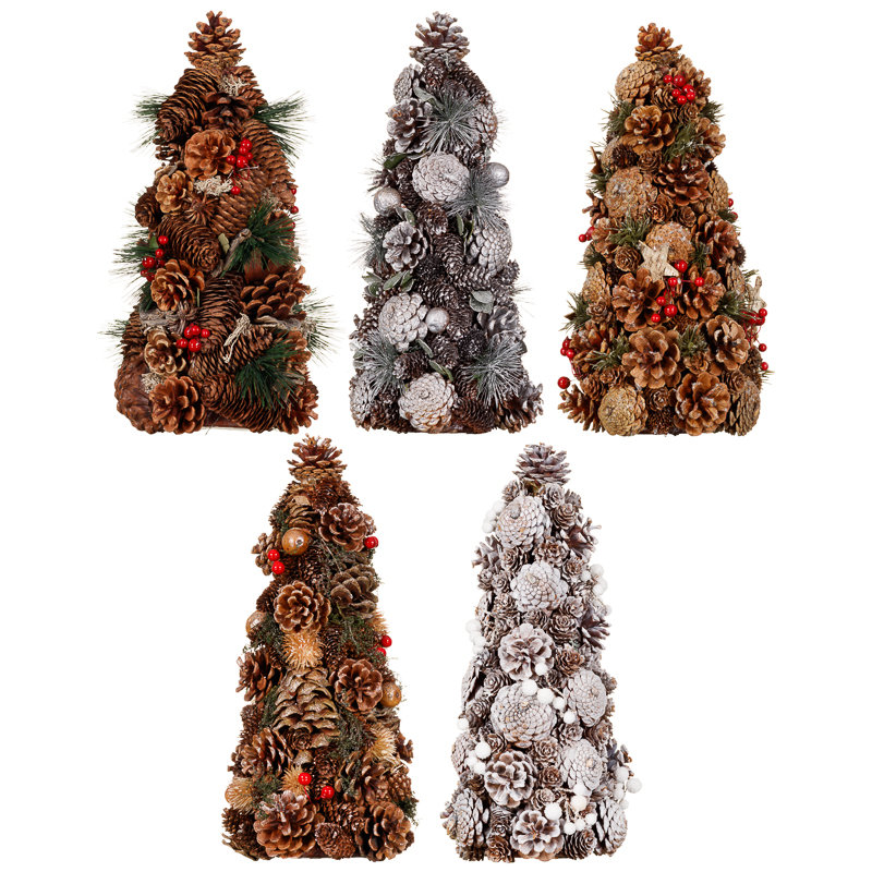 Traditional pine cone tree christmas decorations b m for B m christmas decorations