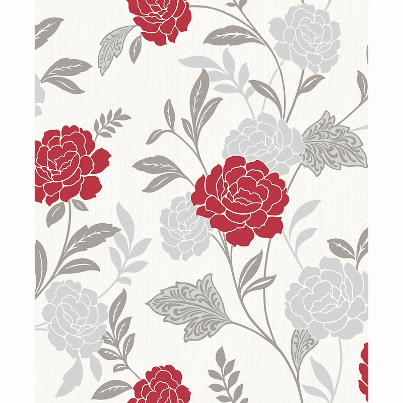 Carla Motif Wallpaper Red