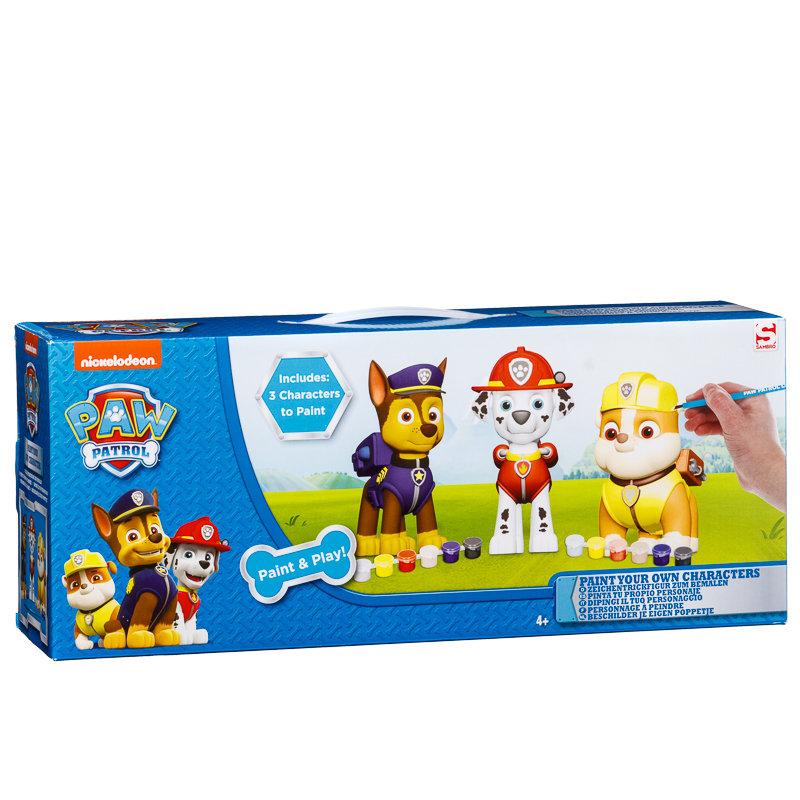 Paw Patrol Paint & Play Figures | Toys & Kids Crafts - B&M