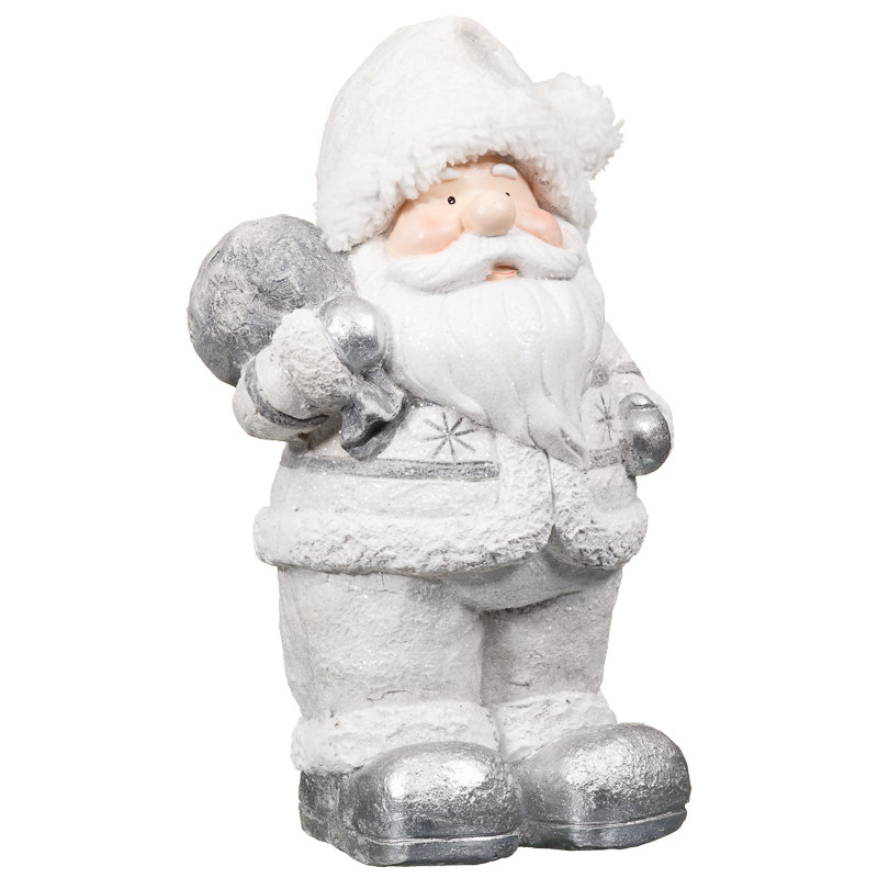 Standing santa with sack ornament christmas decorations b m for B m christmas decorations