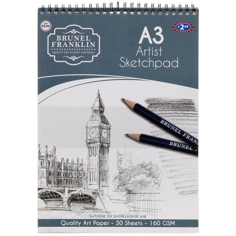 Brunel franklin a3 artist sketchpad craft design art for Sketchpad com