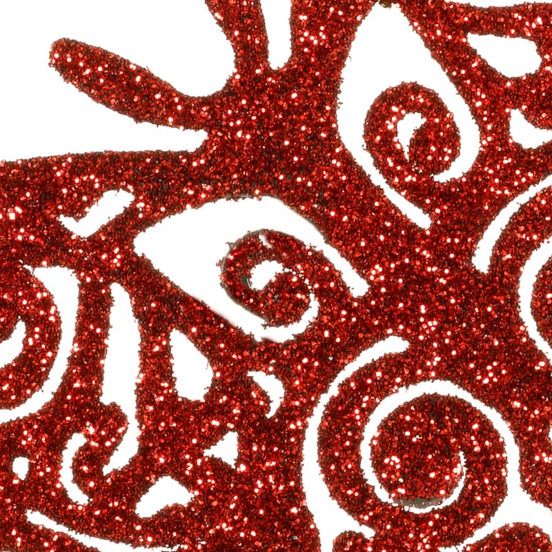 Red Glitter Christmas Tree Decorations : Glitter butterfly christmas tree decoration pk
