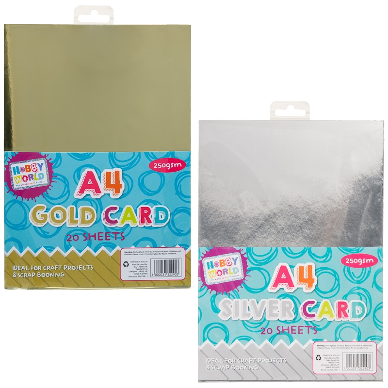 Hobby World A4 Card 20pk - Gold