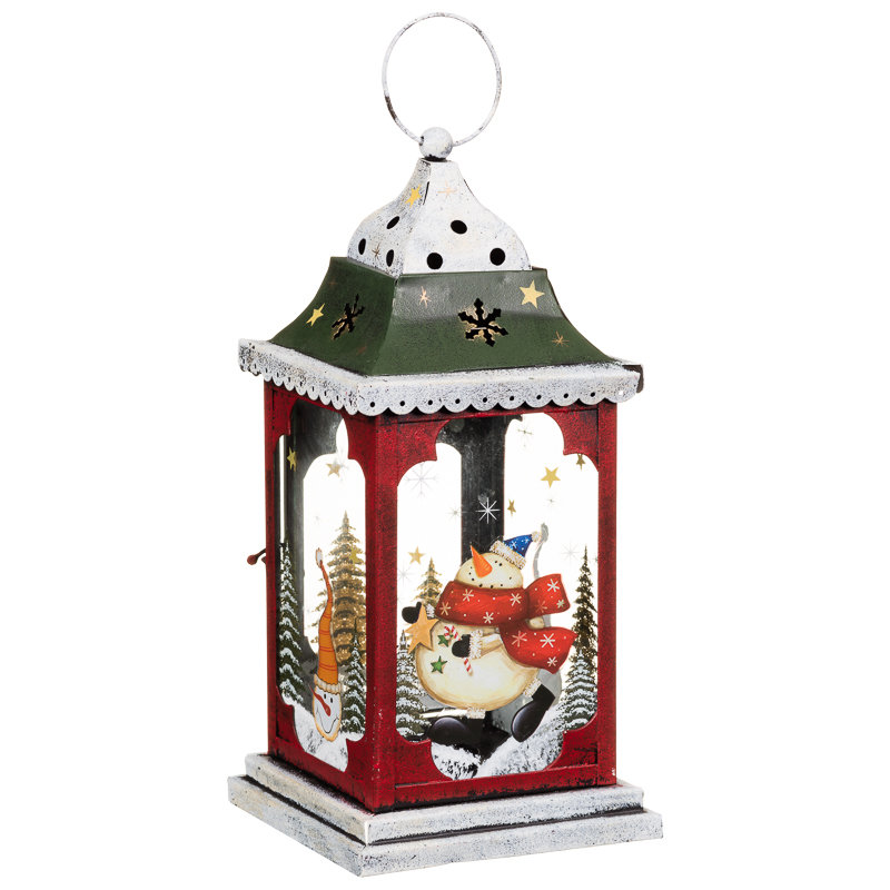 snowman christmas lantern christmas decorations b m ForB M Christmas Decorations