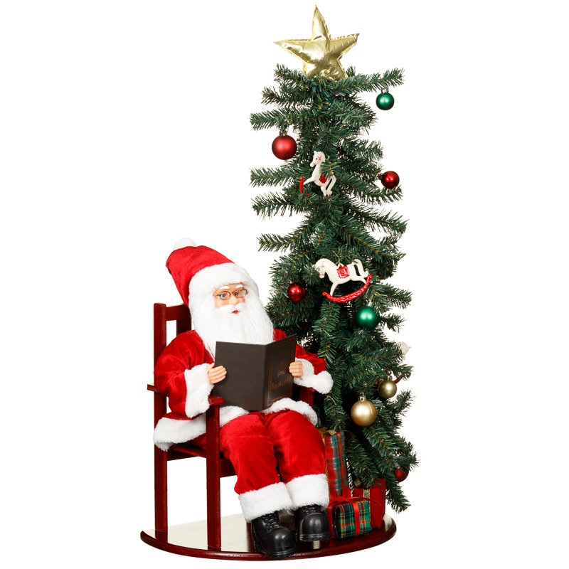 Christmas decorations b and m bargains woodland santa cm for B m christmas decorations