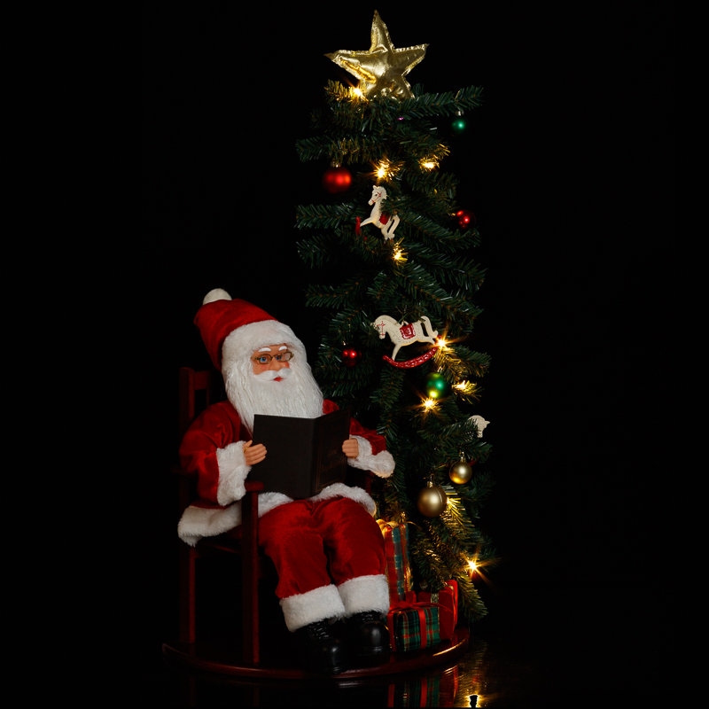 Santa claus christmas tree led decoration xmas b m for B m christmas decorations