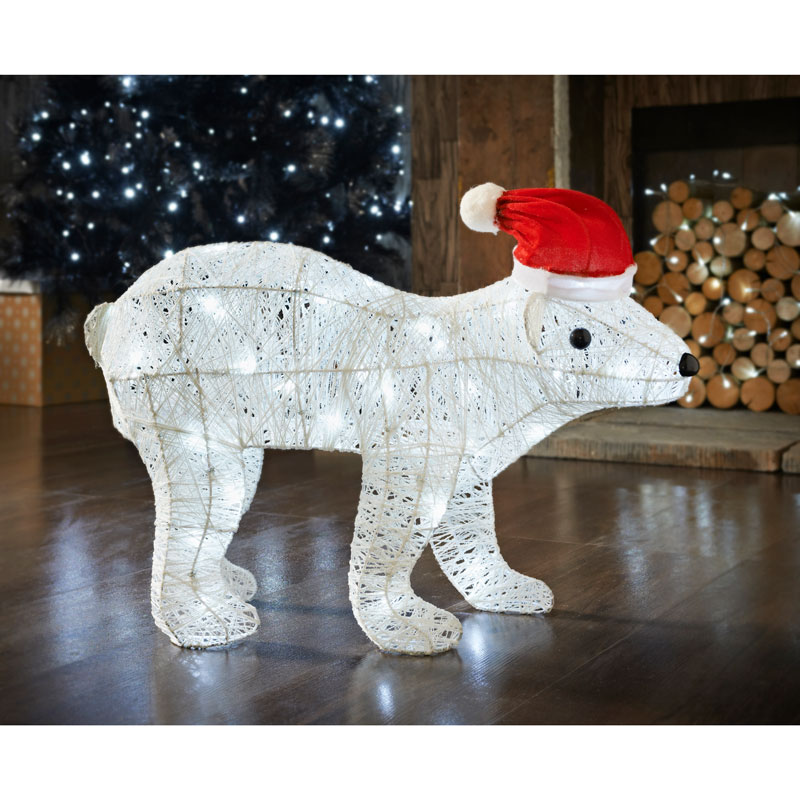 Polar bear 60cm light up christmas decorations b m for B m christmas decorations