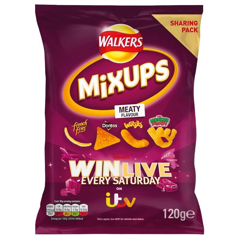Walkers Mix Up Crisps 120g Meaty Crisps B Amp M