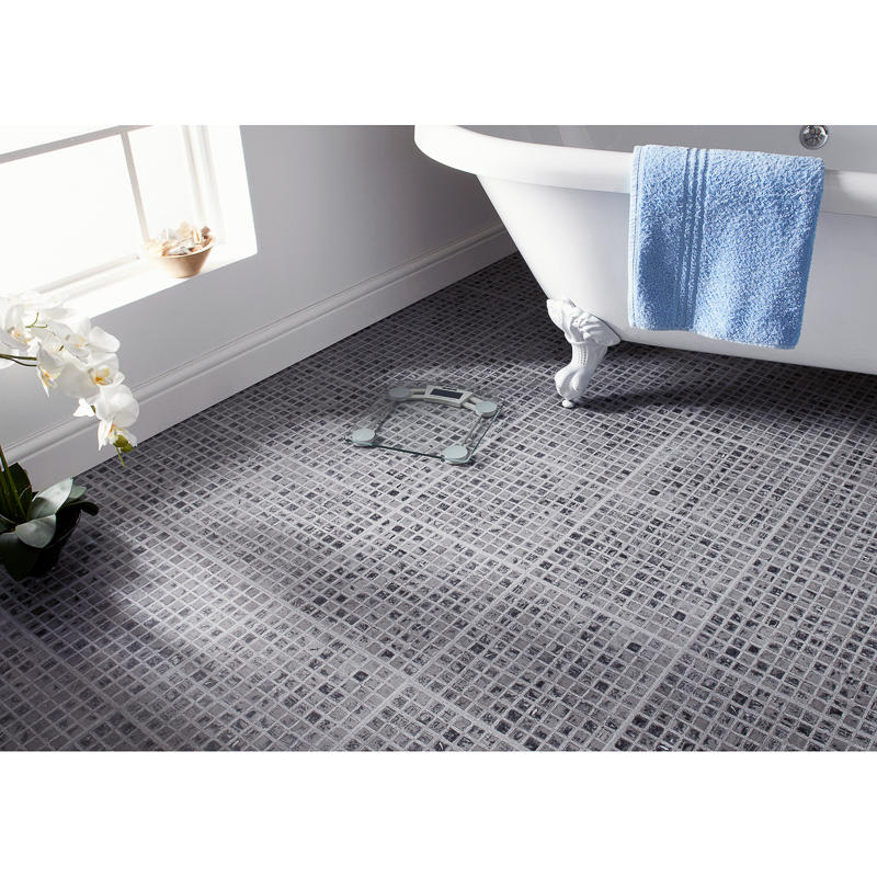 self adhesive floor tiles grey mosaic effect tiling flooring. Black Bedroom Furniture Sets. Home Design Ideas