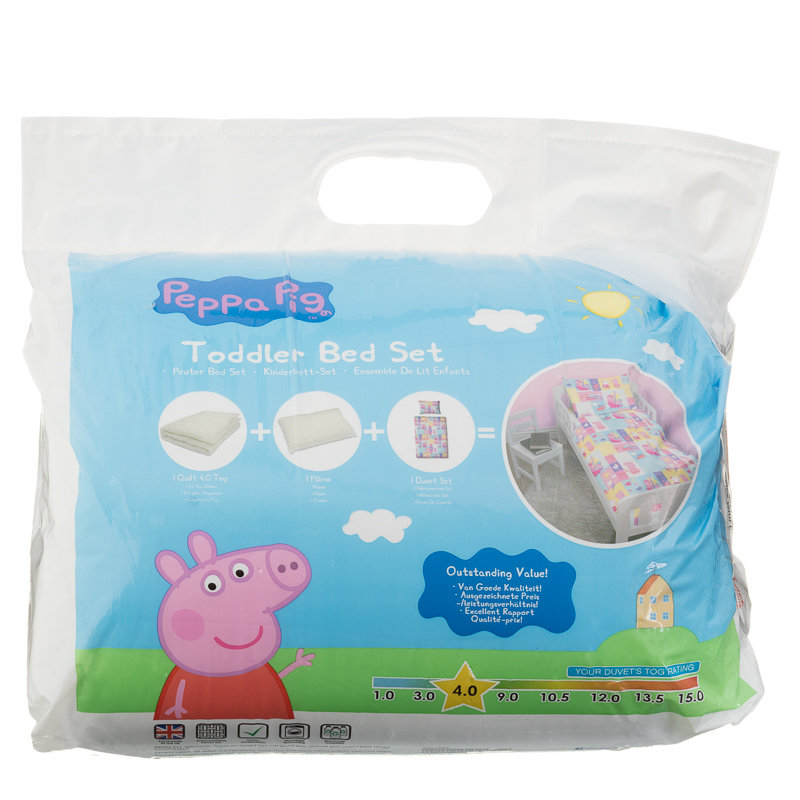 Peppa Pig Toddler Bed Set