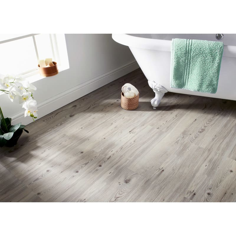 Self Adhesive Wood Effect Floor Planks Grey Tiling