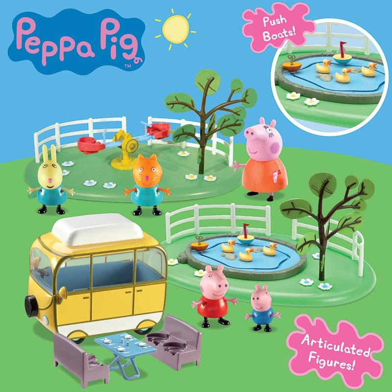 Peppa Pig Campervan And Park Playset Toys B Amp M