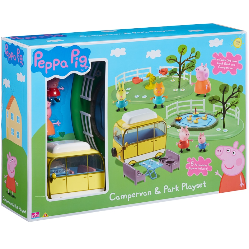 Peppa Pig Campervan And Park Playset Toys B Amp M
