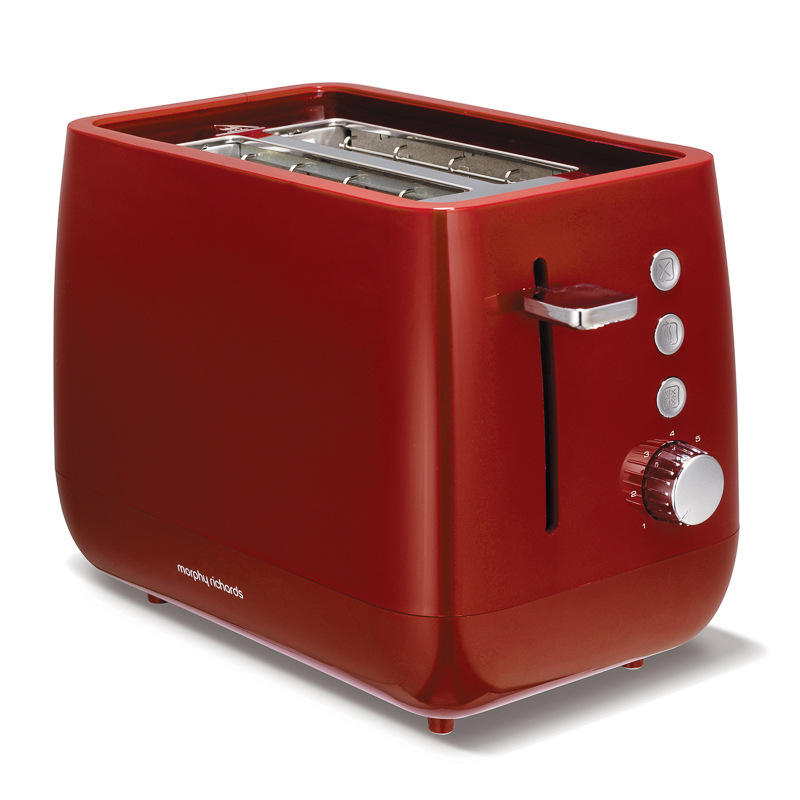 Morphy Richards Red Kitchen Accessories: B&M: Morphy Richards Chroma Toaster - Red